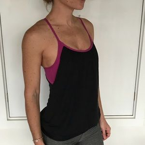 Lululemon sports bra top 4 small black purple